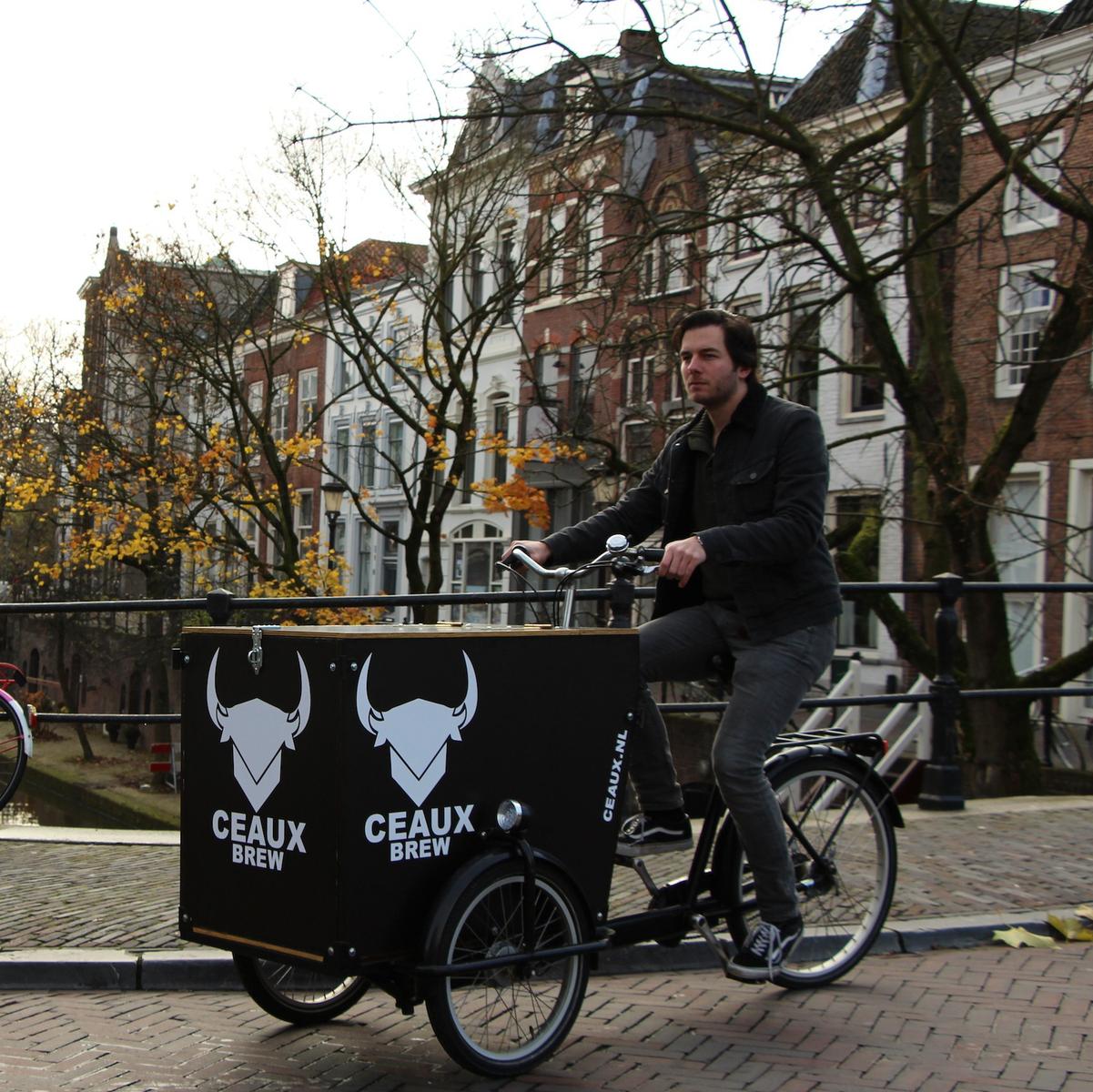 Utrechtse bierbrouwer belevert binnenstad per fiets