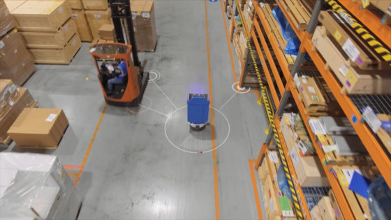The robots recognise their location and surroundings, thus enabling evasive action to work safely with and around people