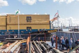 Nedcargo doopt elektrisch vrachtschip
