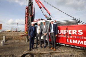 Lidl slaat eerste paal voor duurzaam dc in Oosterhout