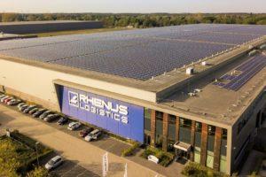 Rhenus vestigt record met mega-zonnepanelen dak (video)
